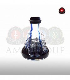 Glasbowl Amy Small Rips - blue / black powder