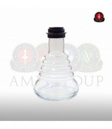 Glasbowl Amy Small Rips - clear / black powder