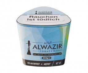 Al Wazir Tabak 250g - No. 6 Blubarry & Mynt